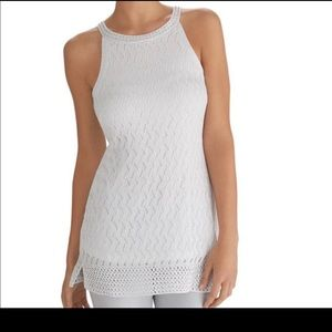 WHBM Crochet Beaded Neck Halter Tunic XS